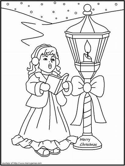 Coloring Pages Christmas Navidad Feliz Lanterns Days