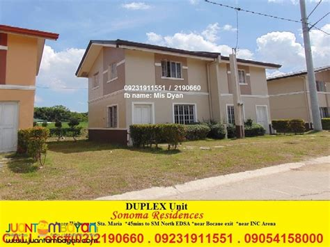 duplex house and lot for sale in sta bulacan sonoma residences mis dyan