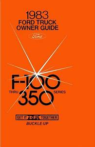 Other Car Manuals 1983 Ford F