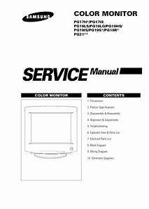 Samsung Pg17h 19ls Pg21  Service Manual  Repair Schematics
