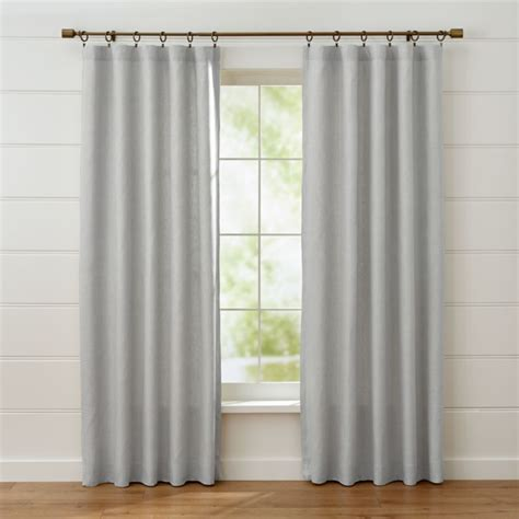 Grey Drapery Panels by Largo Grey Linen Curtain Panels Crate And Barrel