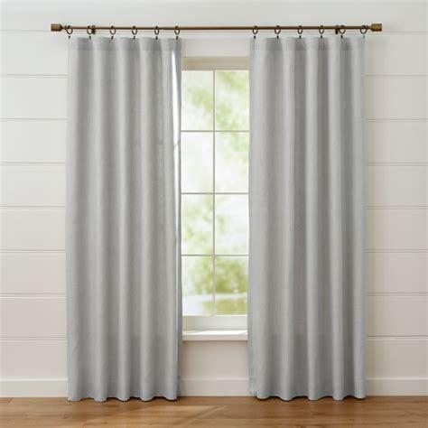 largo grey linen curtain panels crate  barrel