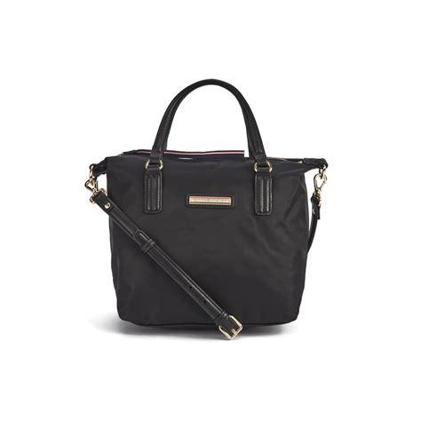 tommy hilfiger womens poppy small tote bag black womens