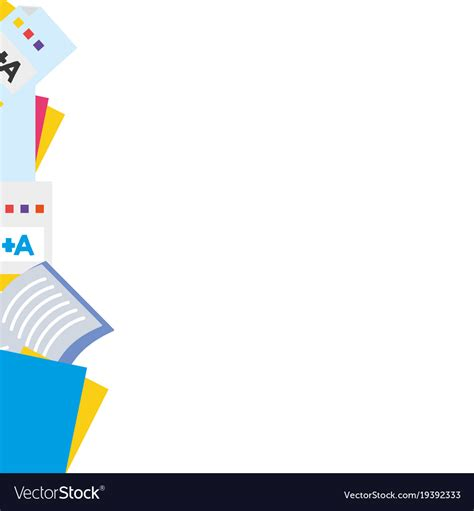 Abstract Wallpaper Design For School by Colorful School Tools Education Background Design Vector Image
