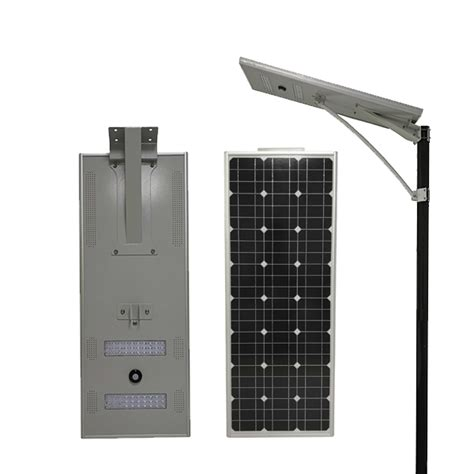 60w best integrated solar light for courtyard customized