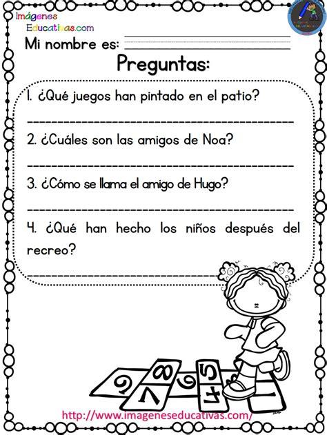 Lecturas Con Preguntas Para Primaria Y Primer Grado (7