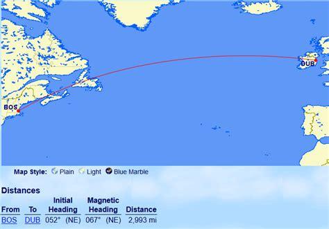 sweet spot boston  dublin    british airways miles  trip travel miles