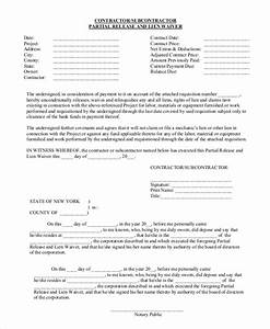 sample lien release form 9 examples in pdf word With partial lien waiver template