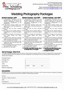 wedding photography booking form and contract 2014 With wedding photography cancellation form