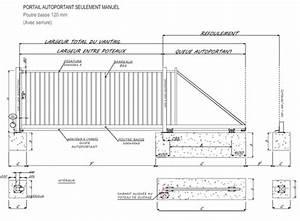 Moteur Barriere Coulissante : schema portail coulissant autoportant ~ Edinachiropracticcenter.com Idées de Décoration