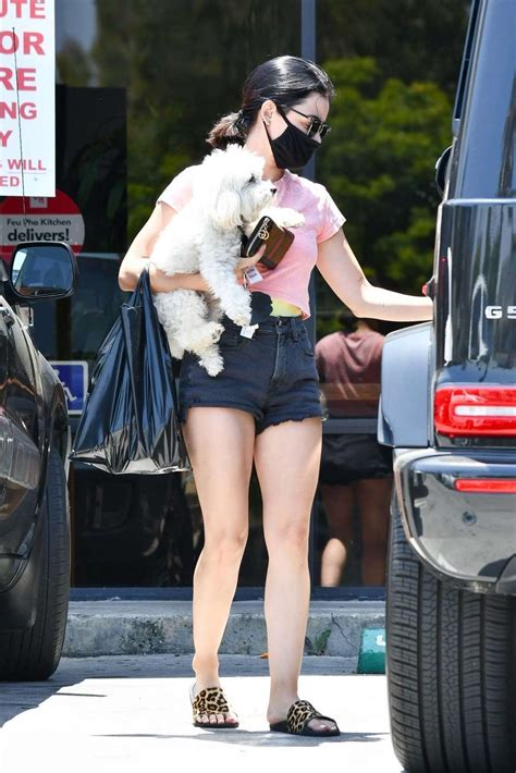 CelebPot: Lucy Hale Booty in Shorts, Stops by a Friend's ...