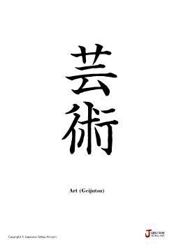 "Japanese word for ""Art"" | Tattoo Kanji Designs"