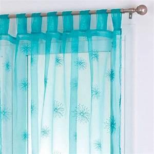 Voilage Bleu Turquoise : rideau et voilage bleu eminza ~ Teatrodelosmanantiales.com Idées de Décoration