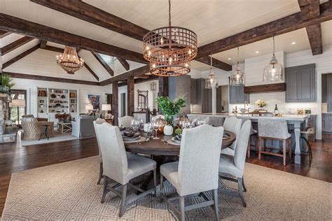 kitchen table light fixtures timber frame home with farmhouse interiors overlooking
