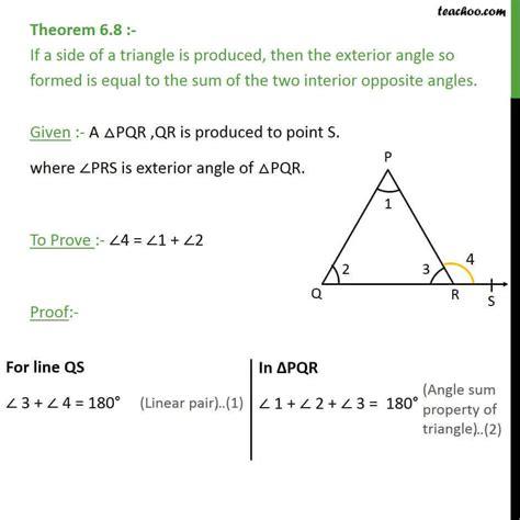 theorem  exterior angle  equal  sum interior