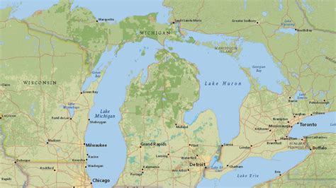 map shows michigan forest roads authorized   road