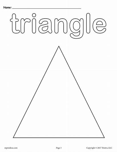 Triangle Shapes Coloring Pages Worksheet Worksheets Activities
