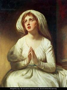Lady Hamilton Praying - George Romney - WikiGallery.org ...