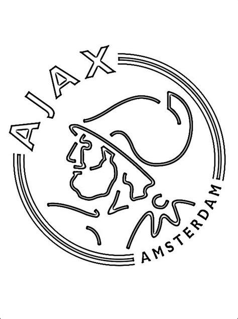 Ajax Kleurplaat Logo kleurplaat met afc ajax logo gratis kleurplaten
