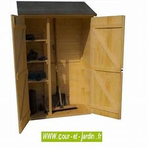 Armoire De Terrasse : armoire de jardin en bois murale adossable pour rangement ~ Farleysfitness.com Idées de Décoration