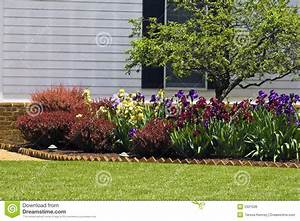 Residential Flower Garden Royalty Free Stock Image - Image ...