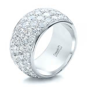 wedding rings real diamonds custom pave wedding ring 100875