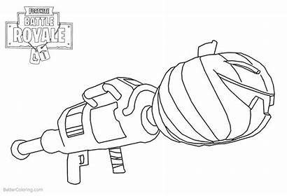 Fortnite Coloring Pages Weapon Pumpkin Launcher Printable