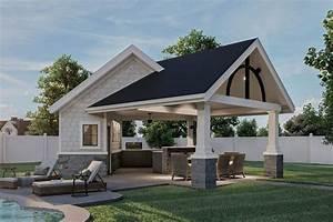 Plan, 62966dj, Craftsman, Style, Poolhouse, Plan, With, Bathroom