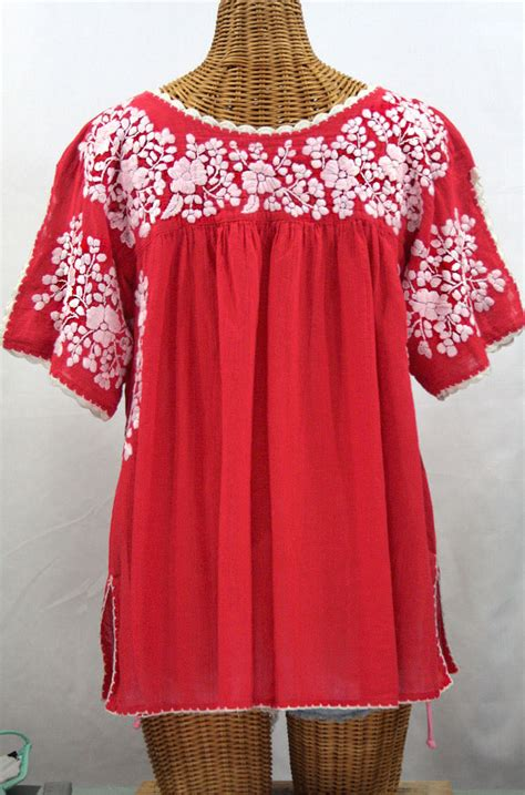lijera libre  size embroidered mexican blouse