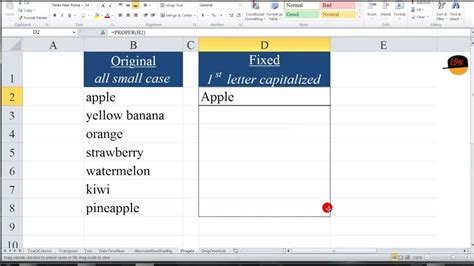 Letter Exle by Excel Capitalize The Letter Of Each Word Proper
