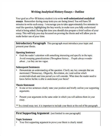sample essay outlines   examples