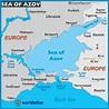 Map of Sea of Azov - Sea of Azov Map, Location Facts, Sea ...