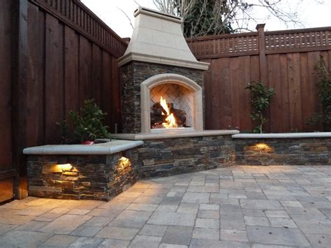 garden fireplace design innovative outdoor fireplace designs at the backyards corner with l