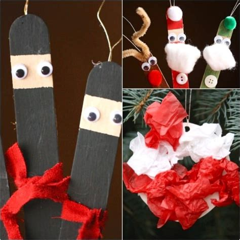 christmas craft for preschool 30 easy ornaments to make at home 385