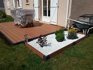 comment poser une terrasse en bois composite lames With comment poser une terrasse en bois