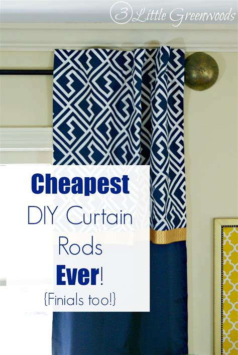 diy curtain rods finials
