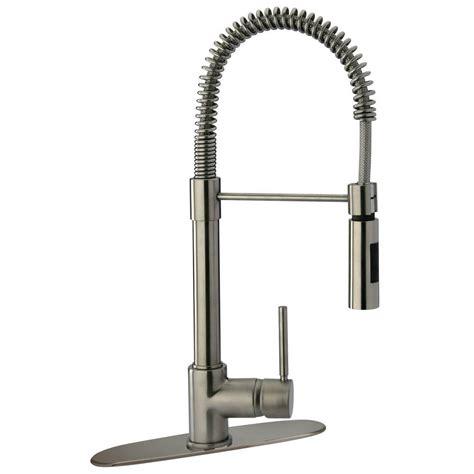 glacier bay pull kitchen faucet glacier bay series 400 single handle pull sprayer