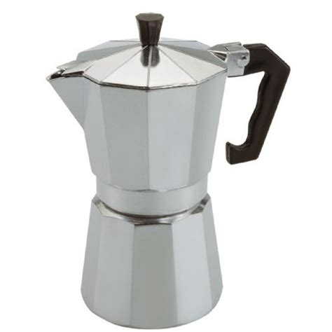 In time the coffee will bubble into the top of the pot. Caroni VE03111 1-Cup Monti Aluminum Stove Top Espresso Coffee Maker - Stovetop Espresso Pot ...