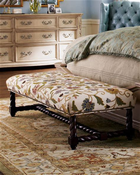Crewel Bench  Traditional  Bedroom Benches  By Horchow