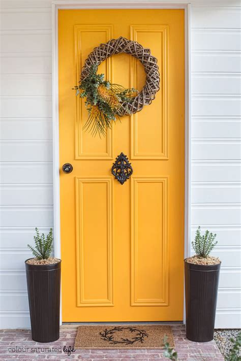 colour saturated life front door makeover with modern