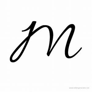 Allura Printable Cursive Alphabet Letter M   DIY Crafts ...