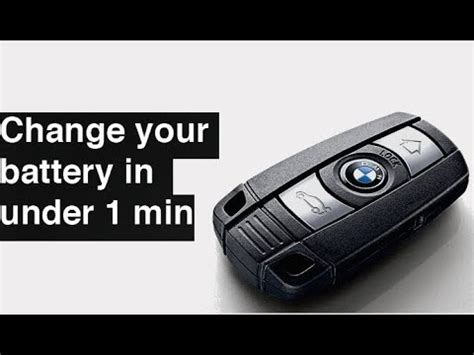 change replace bmw key fob battery     series