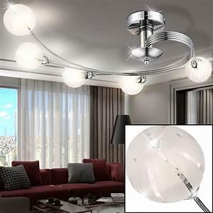 Moderne Küchenlampen Decke : led decken lampe 15 watt wohnzimmer beleuchtung esszimmer leuchte glas kugeln ebay ~ A.2002-acura-tl-radio.info Haus und Dekorationen