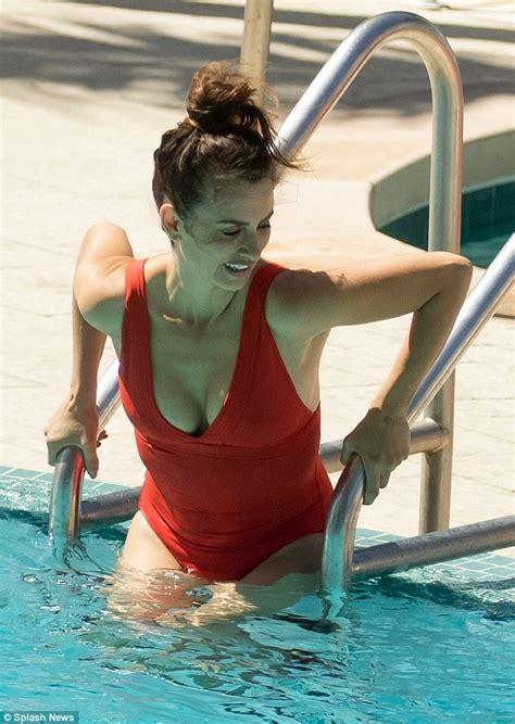 penelope cruz swimsuit penelope cruz enjoys break from american crime story set