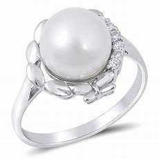 Sterling Silver Woman's Freshwater Pearl Ring Wholesale
