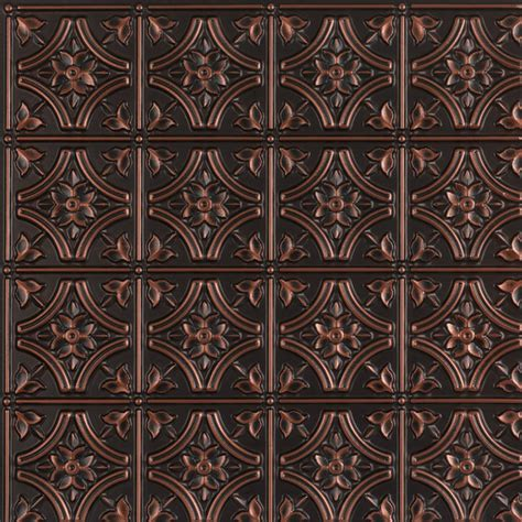 Metal Tile Ceiling by Gothic Reims Faux Tin Ceiling Tile Glue Up 24 Quot X24
