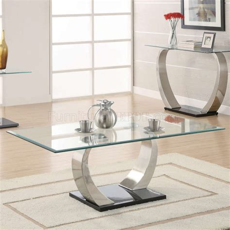 Sofa Table And End Table Set by Glass Top Curved Metal Legs Modern Coffee Table W Options