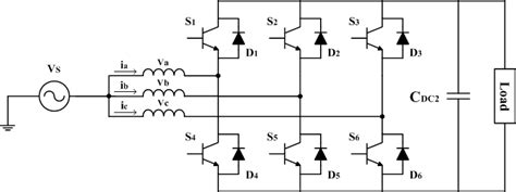 circuit diagram    phase acdc converter