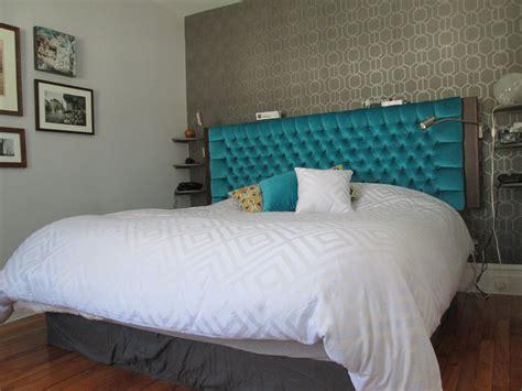 t 234 te de lit en merisier russe et velours meubles sur mesure