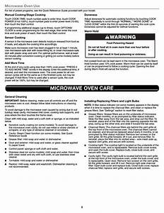 Microwave Oven Use  Microwave Oven Care  Warning
